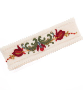 Headband with traditional embroidery white - Mall of Norway - Norwegian Brands - Accessories / Headbands