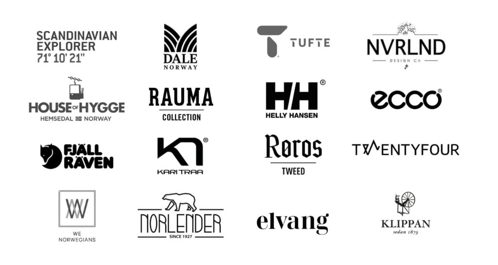 Mall of Norway brand logos