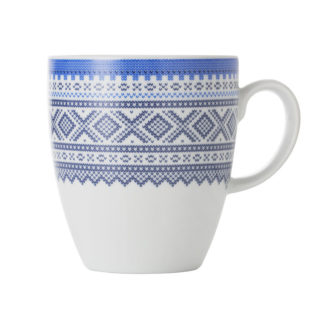 Porcelain cup with cobalt blue Marius pattern - Mall of Norway - Norwegian Brands - Home decor - Home decor / Kitchenware