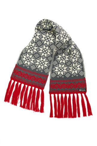 Valent Lise adult wool scarf white red - Mall of Norway - Norwegian Brands - Accessories / Scarves