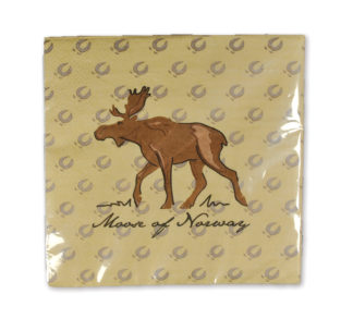 Napkins with moose - Mall of Norway - Norwegian Brands - Home decor / Kitchenware