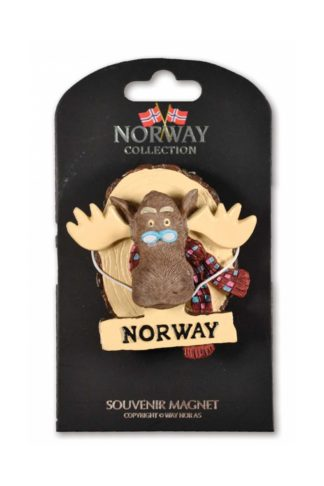 Poly fridge magnet with moose head on log - Mall of Norway - Norwegian Brands - Home decor / Magnets