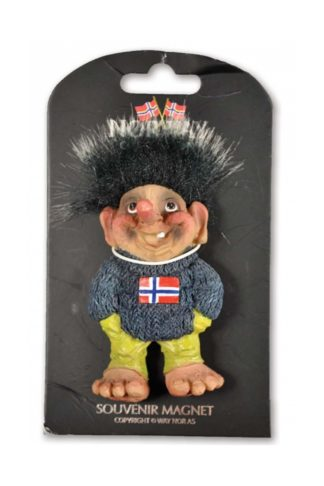 Poly magnet plate troll geir with sweater - Mall of Norway - Norwegian Brands - Home decor / Magnets