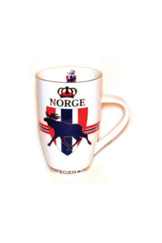 Mug with flag and moose motif - Mall of Norway - Norwegian Brands - Home decor / Kitchenware