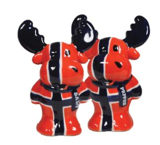 Salt and pepper cellar moose flag - Mall of Norway - Norwegian Brands - Home decor / Kitchenware