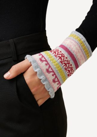 Oleana wool silk wristwarmers with stripes assorted colors - Mall of Norway - Norwegian Brands - Accessories / Wrist warmers